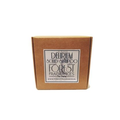 forest fragrances - hair care - solid shampoo - delirium - boxed