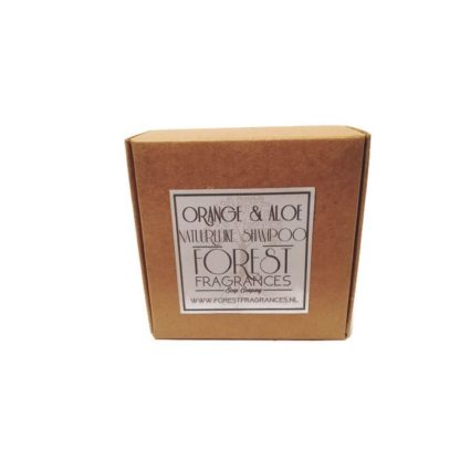 forest fragrances - hair care - solid shampoo - orange aloe - boxed