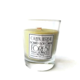 forest fragrances - home fragrances - soy candles - green herbal - single