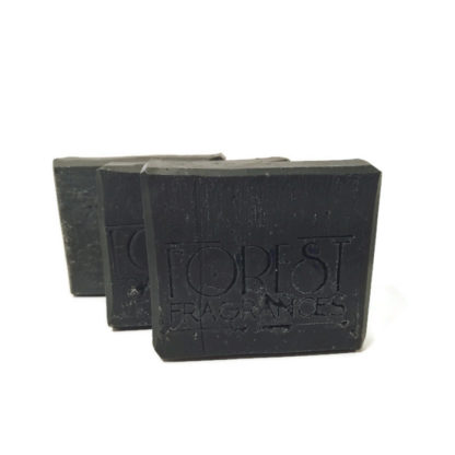 forest fragrances - soaps - body - teatree & charcoal - three
