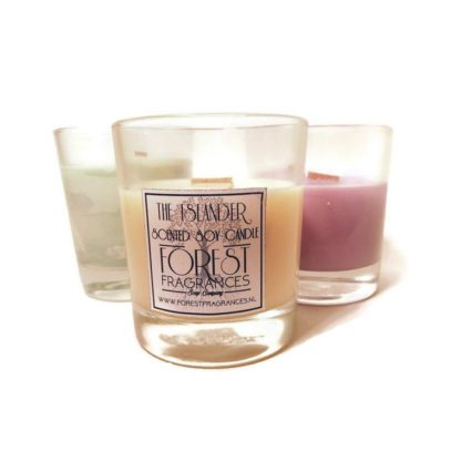forest fragrances - home fragrances - soy candles - the islander - three