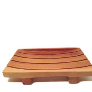 forest fragrances - accessoires - soap dish - mahogany rectangular - side
