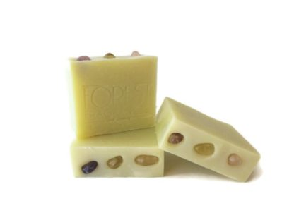 forest fragrances - artisan soap - gemstone soap - pure - side