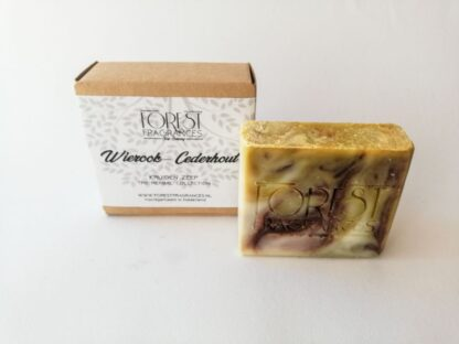 forest fragrances - zeep - kruidenzeep - wierook cederhout kruiden zeep - verpakking