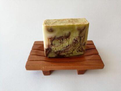 forest fragrances - zeep - kruidenzeep - wierook cederhout kruiden zeep - zeepschaaltje