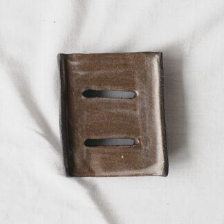forest fragrances - accessoires - zeepschaaltje - keramiek - rechthoek - bruin - mat