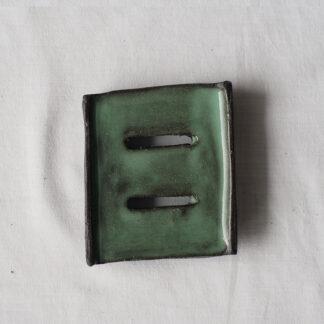 forest fragrances - accessoires - zeepschaaltje - keramiek - rechthoek - groen - glanzend