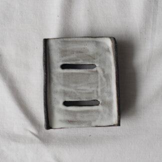 forest fragrances - accessoires - zeepschaaltje - keramiek - rechthoek - wit - grijs