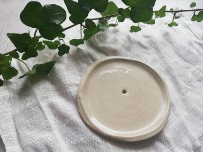 forest fragrances - accessoires - zeepschaaltje - keramiek - rond - glanzend - creme
