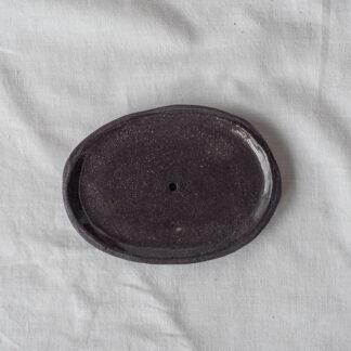 forest fragrances - accessoires - zeepschaaltje - ovaal - glanzend zwart