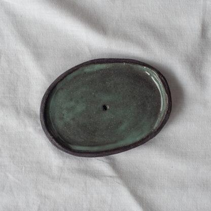 forest fragrances - accessoires - zeepschaaltjes - keramiek - ovaal- groen - glanzend