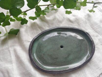 forest fragrances - accessoires - zeepschaaltjes - keramiek - groen - glanzend - bovenkant