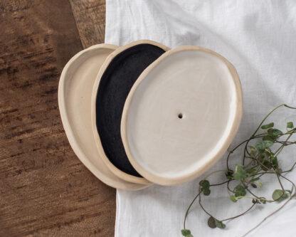 forest fragrances - zeepschaaltjes - keramiek - ovaal - drie